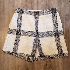 ZARA tweed stripe shorts